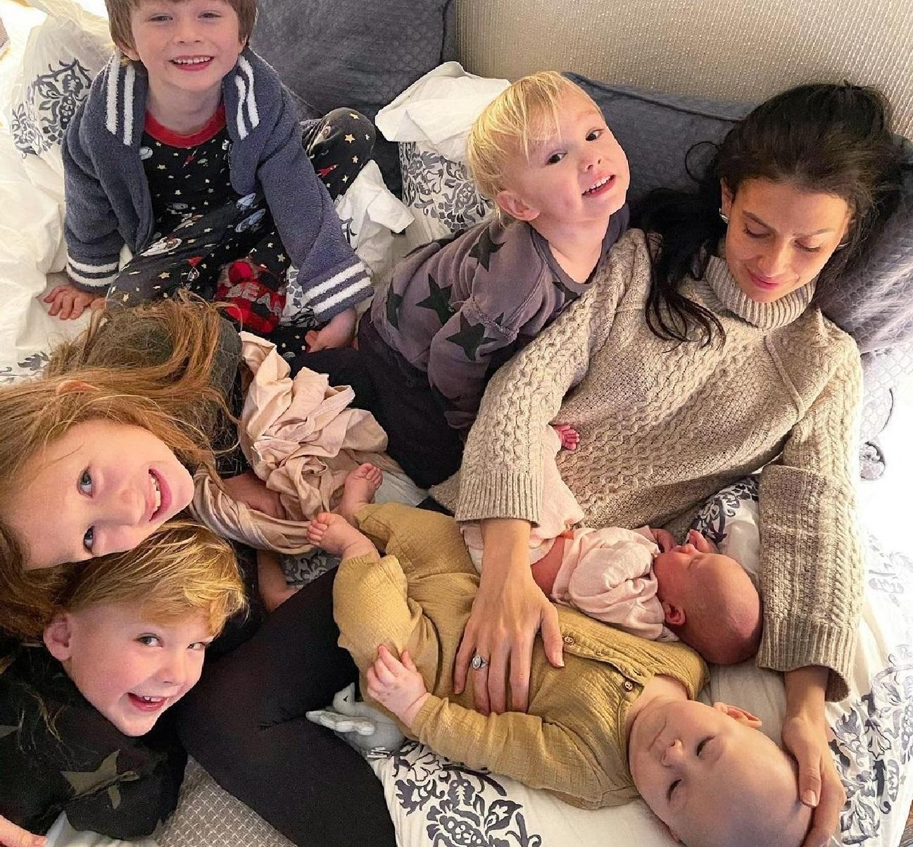 Hilaria Baldwin and her six kids.