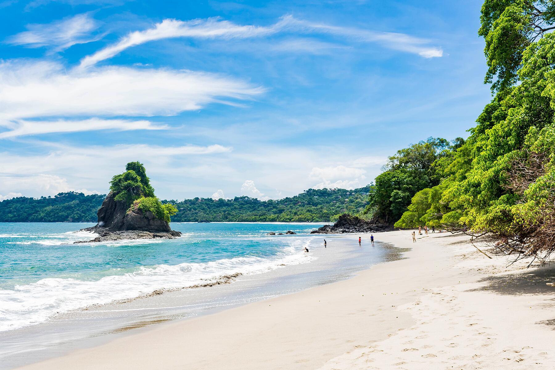 Espadilla Beach arguably the most famous beach in Costa Rica.
