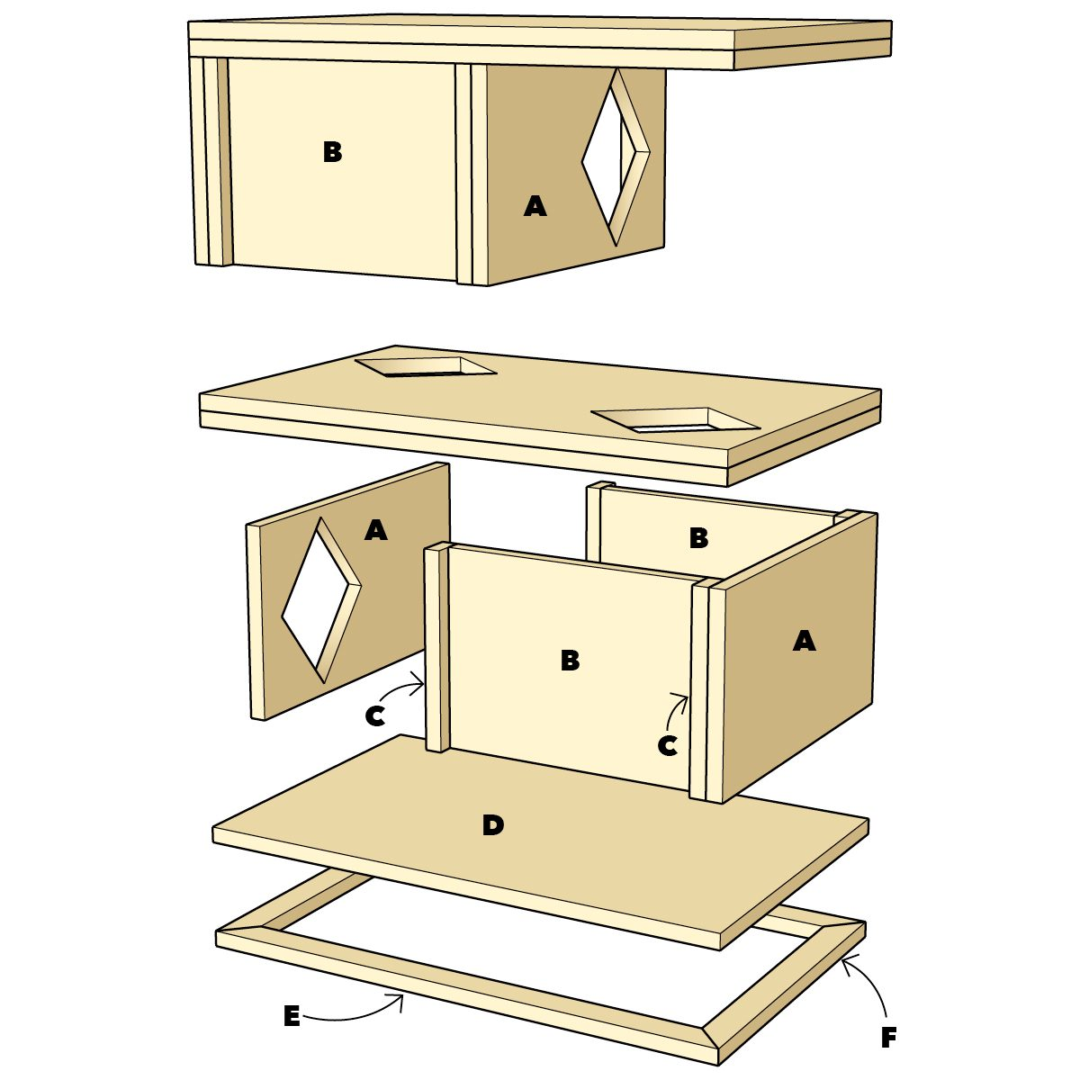 DIY cat house assembly instructions