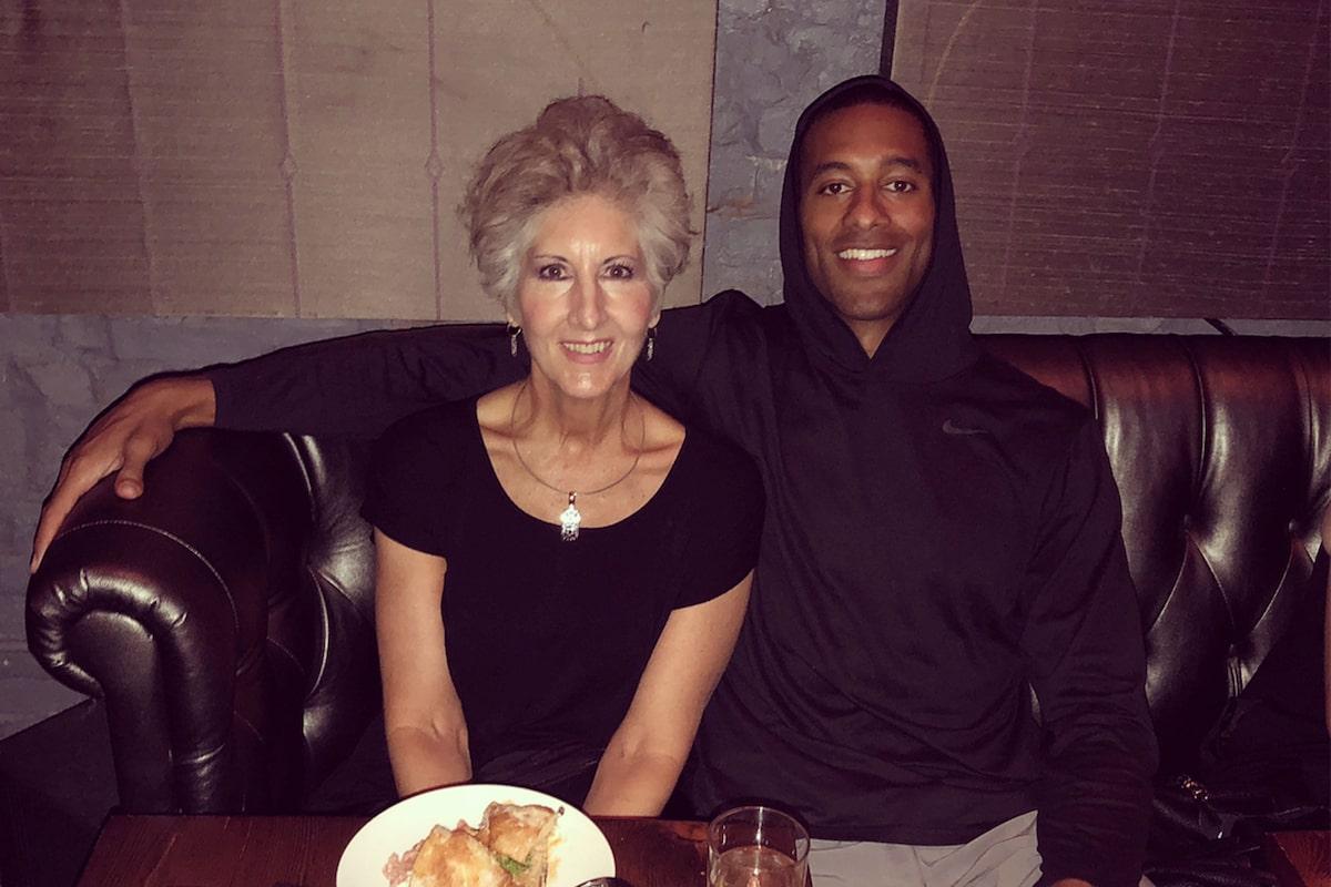 Bachelor Matt James and his mother Patty