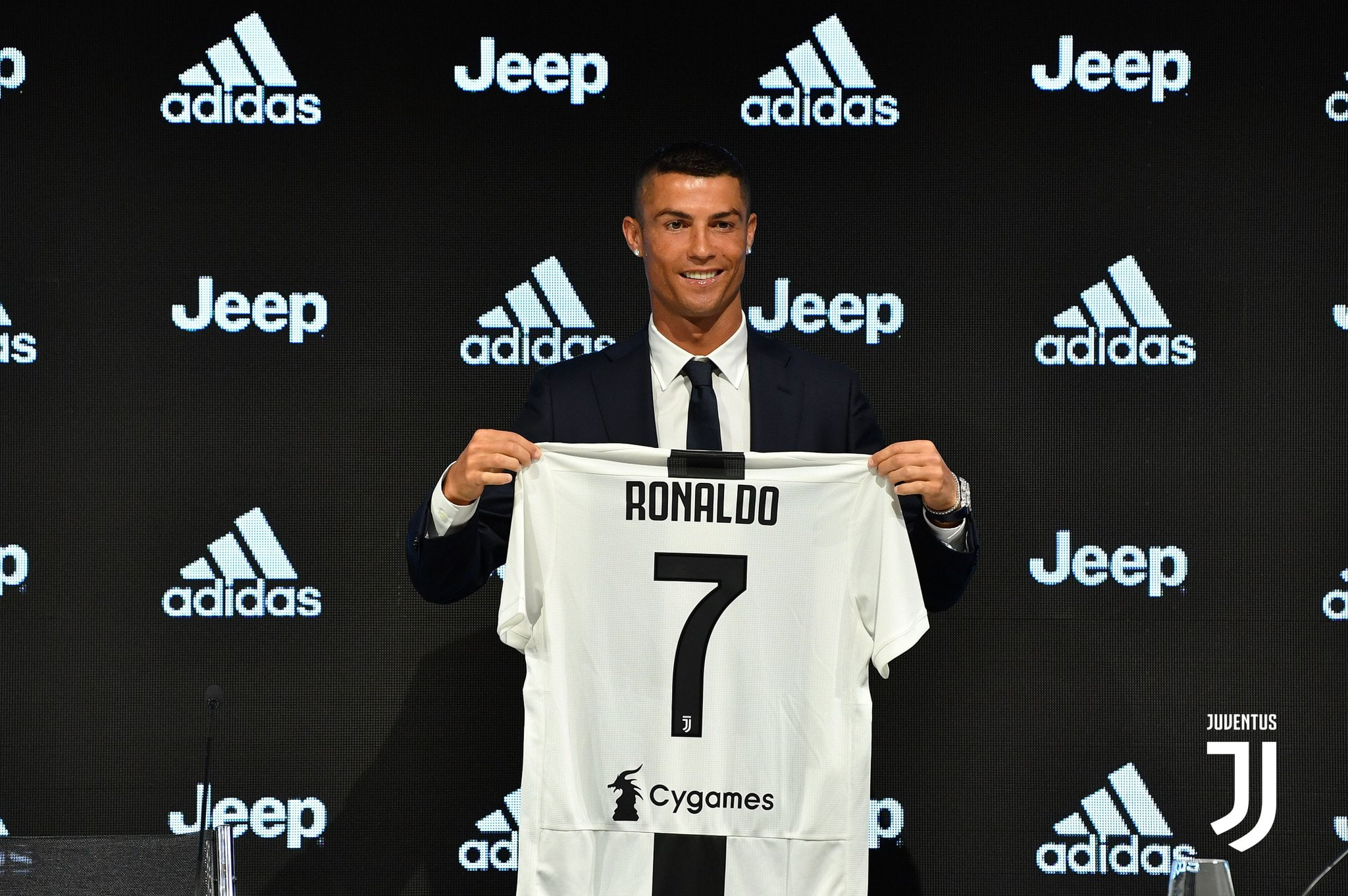 Cristiano Ronaldo during his presentation as a Juventus player in the summer of 2018.