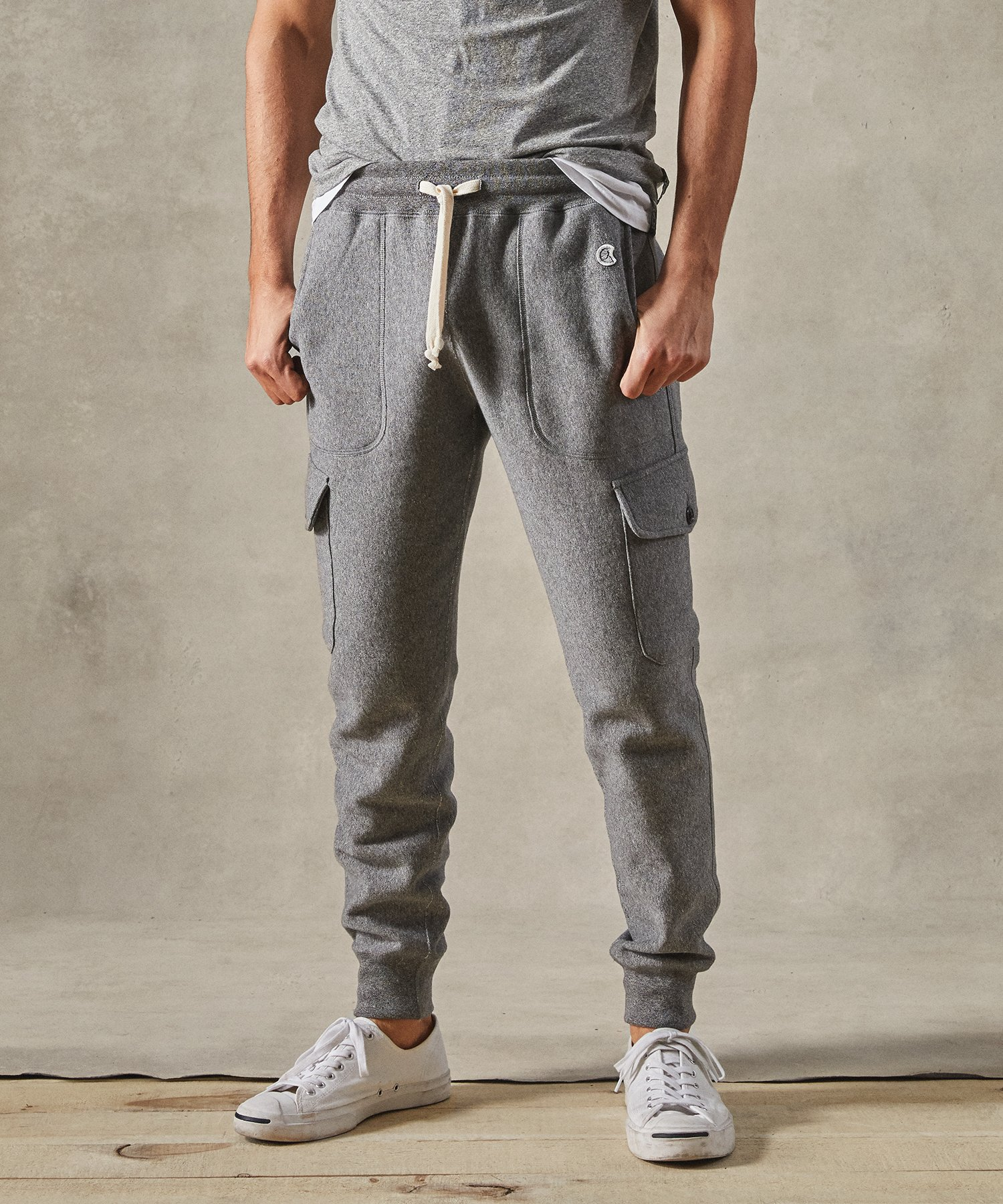The Todd Snyder Utility Cargo Sweatpant is easy to match with a wide variety of garments.