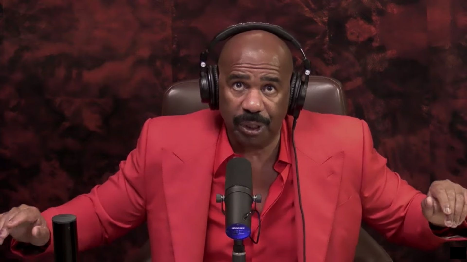 Steve Harvey during his interview on Jimmy Kimmel Live