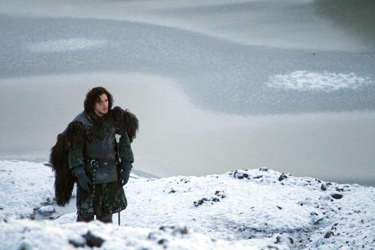 Kit Harington as Jon Snow in GOT scene